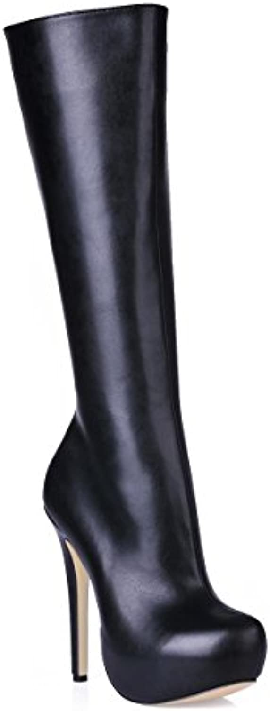 Best 4U® Stivale da donna con tacco alto in gomma gomma gomma PU Premium  Suola bc52f202dfd
