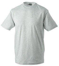 Herren T-Shirt ohne Seitennähte Ash