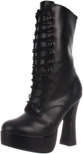 Pleaser  Electra-1020, Bottes femme Nero (Blk Faux Leather)