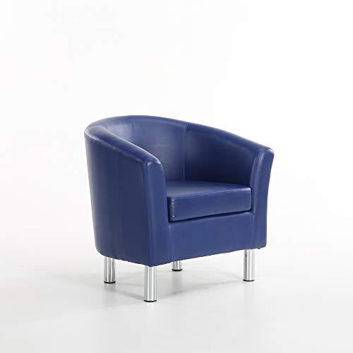 Gepolsterte Leder-club Sessel (The Home Garden Store Camden Ledersessel, für Esszimmer, Wohnzimmer, Büro, Empfang, Hotel - königsblau)