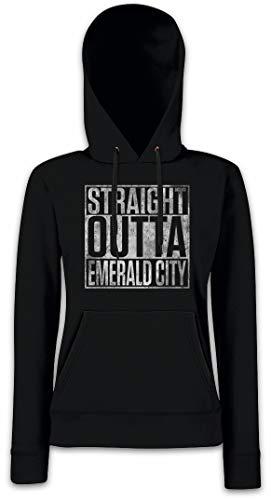 Urban Backwoods Straight Outta Emerald City Damen Kapuzenpullover Hoodie XS - 2XL
