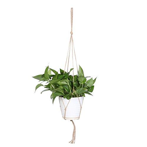 Pb peggybuy Pflanze Kleiderbügel Makramee Pflanzenhänger Blumentopf Halter gardenpot Heben Seil für Innen & Außenbereich Aufhängen Pflanze