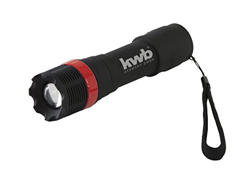 kwb LED Taschenlampe Tactical Zoom 948190 (superhell, über einen Drehring verstellbare Fokusfunktion,Handschlaufe)