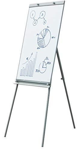 JAGO Flipchart Whiteboard in 65 x 100 cm mit Dreibein Ständer | Höhenverstellbar 100-190 cm und zusammenklappbar, einfach zu transportieren