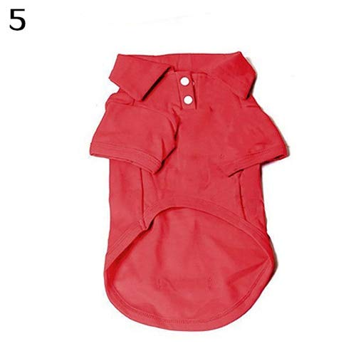 Sannysis Hund Shirts: Welpen-Hundekatze Sommer Fest Farbe Buttoned Polo-Hemd Haustier-Kleidung-Kostüm-T Shi -