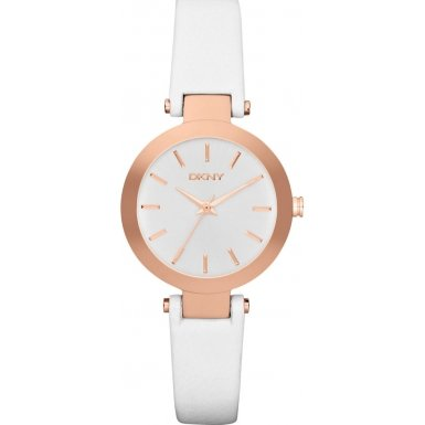 DKNY (DNKY5) Women's Quartz Watch with White Dial Analogue Display and White Stainless Steel Bracelet NY2405