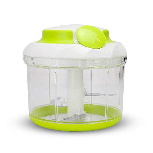 Picador de alimentos manual | Batidora de mano | Mini procesador de alimentos | Picadora De Ensalada | Cortador de vegetales | Picadora de cebolla | Poderoso Easy Pull Chopper | M&W