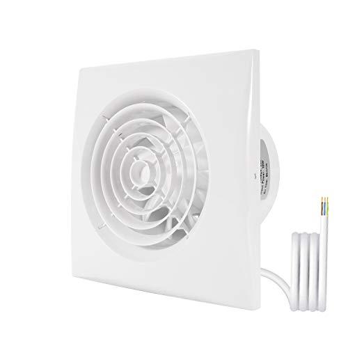 Hon&Guan Abluftventilator Bad-Lüfter 100mm, 95m³/h Badezimmerlüfter für Badezimmer Küche Wohnzimmer Keller Toilette
