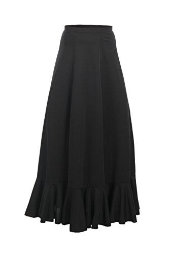Yebra 601 Falda de Ensayo para Baile, Niñas, Negro, 6