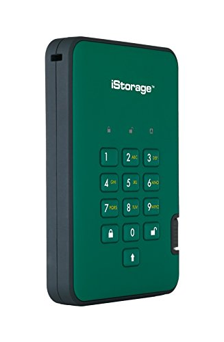 Affordable iStorage IS-DA2-256-2000-GN 2TB diskAshur2 USB 3.1 Portable Encrypted Hard Drive – Racing Green on Amazon