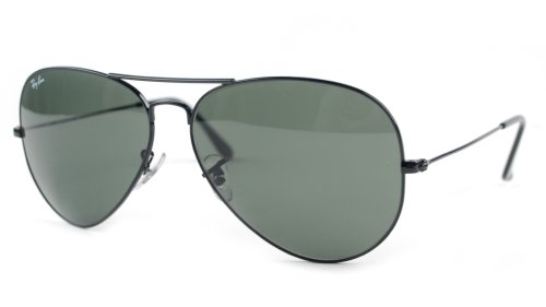Ray-Ban - Large Metal Aviator Sunglasses RB3025 (Black / G-15 XLT)