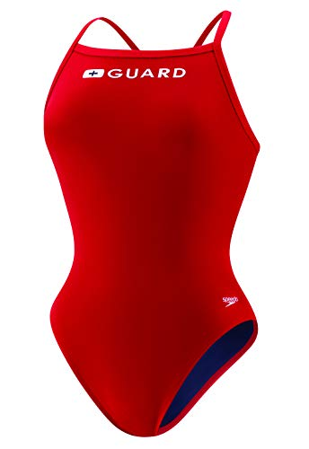 Speedo Guard (Speedo Damen Guard Flyback Endurance Lite Badeanzug US Red 38)