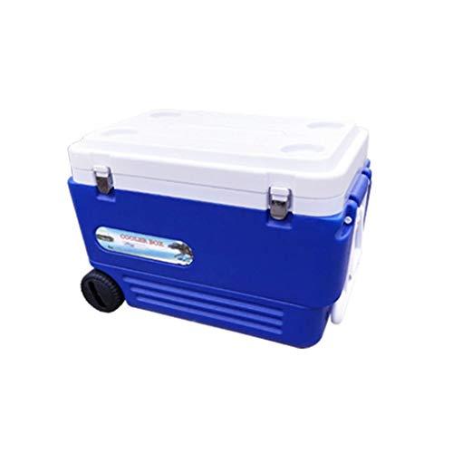Z-Cooler box Outdoor Kühlbox, Angeln Kunststoff Blau Multifunktions Gefrierschrank Kühlbox Mit Rädern Elektrische Kühlbox 65 * 42 * 44 cm (größe : 65 * 42 * 44CM) (Kunststoff-tisch Mit Rädern)