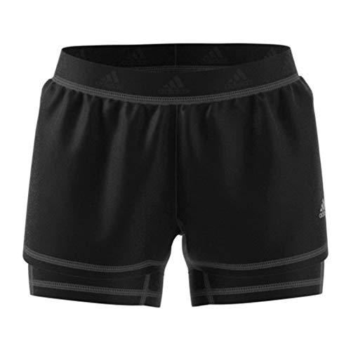 adidas Damen 2in1 Shorts, Black, 2XS