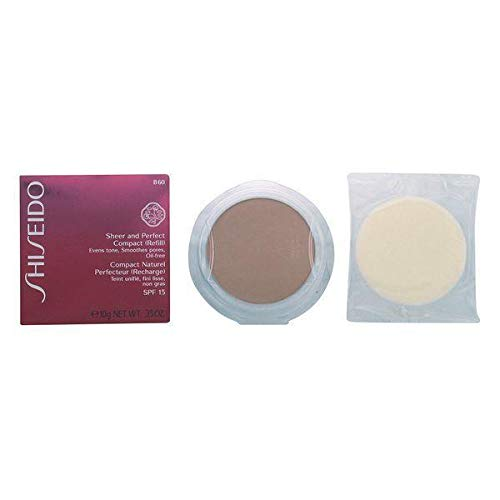 Shiseido Sheer und Perfect Compact Refill unisex, Puder Foundation 10 g, Farbnummer: B60, 1er Pack (1 x 0.208 kg)