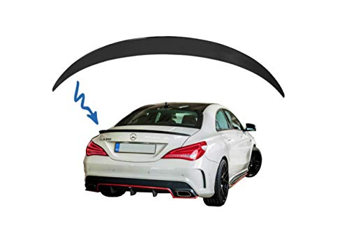 ABS Car Spoiler per bagagliaio posteriore alettone nero lucido Parti del corpo automobilistico stile AMG adatto per Mercedes-Benz Classe C W204 Berlina 2008-2014 Yctze Spoiler per bagagliaio