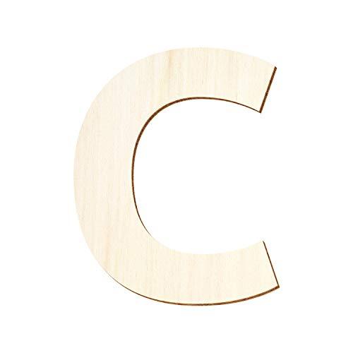 Bütic GmbH Holz Buchstaben - Ubuntu - Wunschtext/Schriftzug mit Größenauswahl, Größe:20cm, Buchstaben:großes C