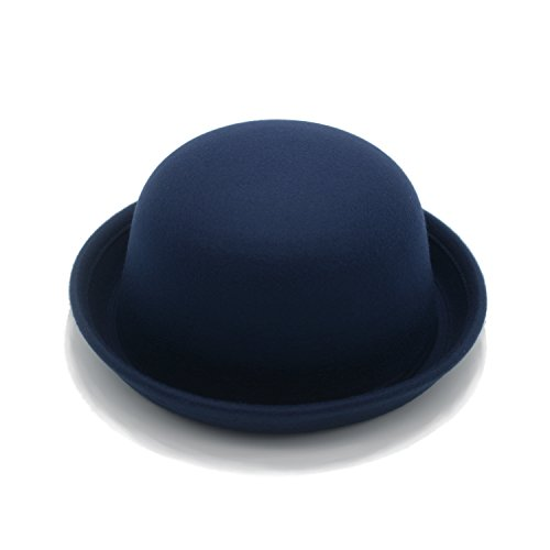 JEEDA Vintage Style Frauen Woolen Roll-up Krempe Fedora Bowler Hat -
