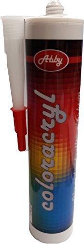 Maleracryl, im gewünschten Farbton, rissfrei da kein Anstrich nötig, Acryl Dichtstoff, farbig (Creme RAL 9001 Cremeweiß)