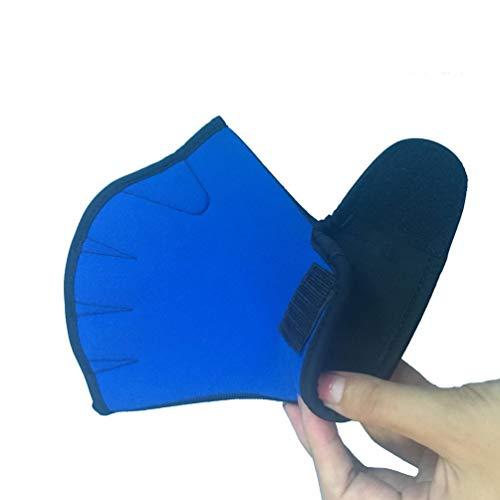 FCGV 2 Mm Schwimmen Handschuhe Training Ente Palm Handschuhe Erwachsene Unisex Schnorcheln Tauchen -Blau (M)