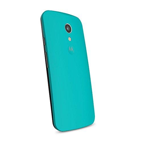 Motorola Clip-On Shell Hülle Schale Case Cover für Moto G (2. Generation) Smartphone - Türkis
