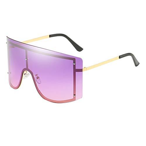 Lazzboy Mode Mann Frauen übergröße Sonnenbrille Brille Shades Vintage Retro Style Klassische Polarisierte Damen Mit Strass Rahmen Sunglasses Für Fahren Reisen(G)