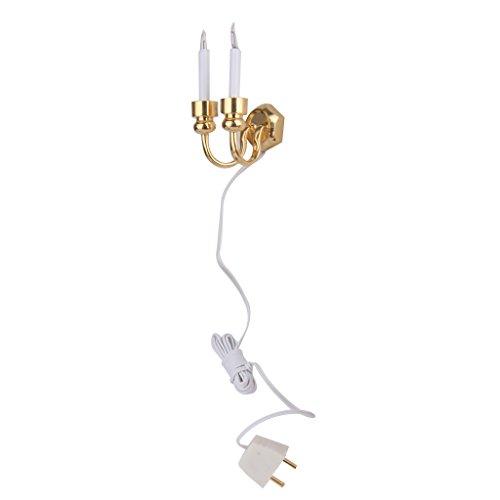 12 Doppel-draht (Doppel Leitung Kerze Wandlampen Wandlampen Licht Miniatur Puppenstuben Zubehoer)