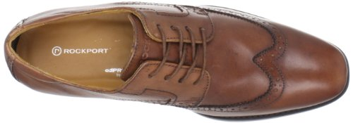 Rockport Or Stitched Wingtip Wingtip K60035, Chaussures basses homme Marron - Cognac