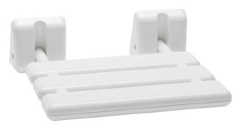 Preisvergleich Produktbild Dusch-Klappsitz 100 kg - Kunststoff - weiß