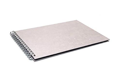 A4 Paysage Scrapbook | Noir Papier recyclé, 20 feuilles