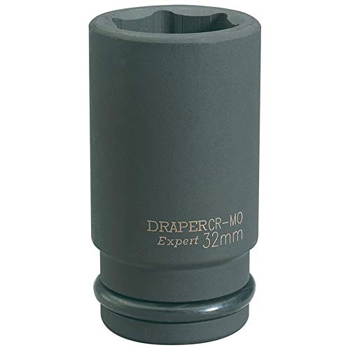 Draper 419d-mm Expert 3/10,2 cm carré d'entraînement Hi-Torq à 6 points Deep Impact Socket, Bleu, 32 mm