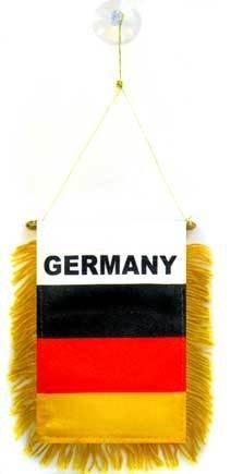 AZ FLAG Fanion Allemagne 15x10cm - Mini Drapeau Allemand 10 x 15 cm spécial Voiture - Bannière