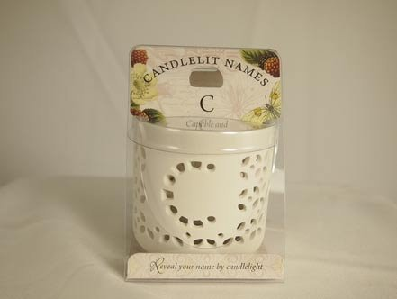 History & Heraldry Candlelit Names - C - Tea Light Lite Candle 001850040-HH by History & Heraldry