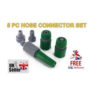 ACERDEALS 5 Piece Garden Hose Connector Set (Pack of 1)
