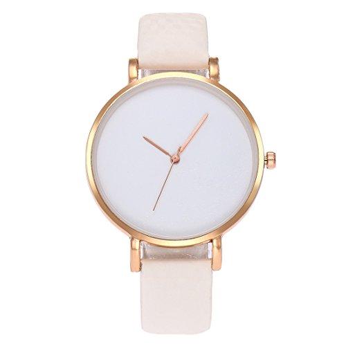Souarts Damen Armbanduhr Farbwechsel Uhr unter UV von Weiß bis Blau Temperatursensor Entfärbung Damenuhr Einfach Stil Analoge Quarz Uhr mit Batterie Charm Zubehör
