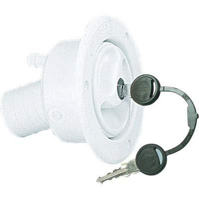 lstutzen 40 mm, weiß, Außenwand Montage, Schloß und 2 Schlüssel ()