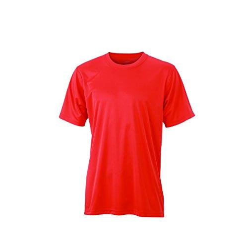 JAMES & NICHOLSON - Maglietta sportiva - Basic - Collo a U  - Maniche corte  -  uomo rouge grenadine