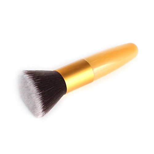 Make-Up Pinsel, GJKK 1pc Premium Pinselhaare Bullet-Griff Flachpinsel Puderpinsel Foundation Bürste...