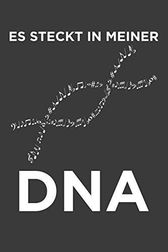 Es steckt in meiner DNA: Liniertes DinA 5 Notizbuch für Musikerinnen und Musiker Musik Notizheft