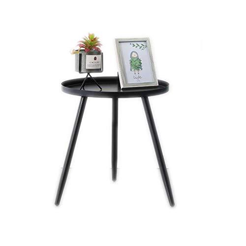 Metall-modernes Sofa (Wghz Metall couchtisch, Moderne Wohnzimmer Sofa beistelltisch kleinen esstisch Schlafzimmer nachttisch (Farbe: schwarz, größe: 40 * 40 * 42 cm))