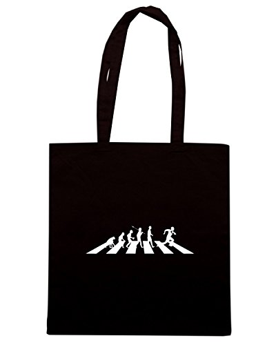T-Shirtshock - Borsa Shopping TRUG0126 rugby beatles logo Nero