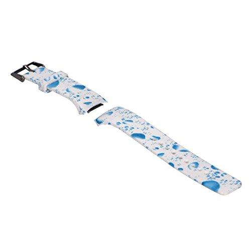 kashyk Armband Kompatibel für Samsung Galaxy Gear S2 SM-R720,Weich Ersatz Armbänder Drucken Smart Fitness-Uhr Verstellbares Ersatz-Sportarmband Soft Silikon Uhrenarmband für Herren Damen (Soft-uhr)