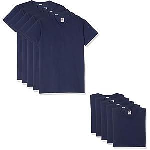 10 Fruit of the loom T Shirts V-Neck M L XL XXL V-Ausschnitt Diverse Farben auswählbar