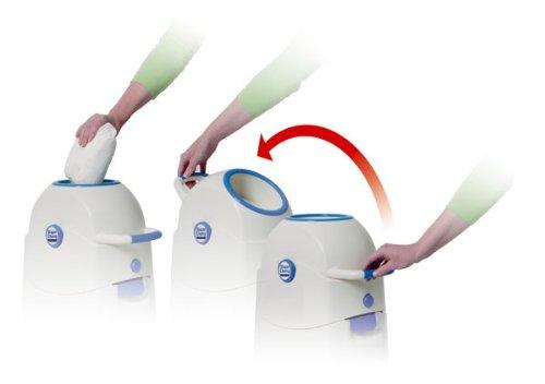 Geruchsdichter Windeleimer Diaper Champ medium silber – für normale Müllbeutel - 2
