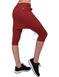 444995177e8fd Honofash Falda Pantalón Tenis Mujer Deportivas Deporte Running Ropa Padel  Golf Leggins Deporte S M L XL