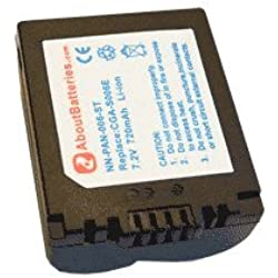 Batterie type PANASONIC CGR-S006E, 7.2V, 710mAh, Li-ion