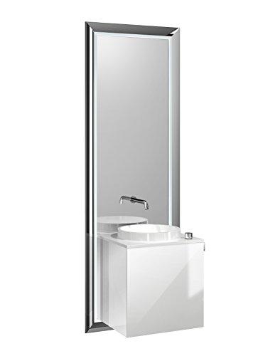 Türgriff Emco (emco touch pure Waschplatz 45 cm Rahmen Chrom, Front Optiwhite, Griff rechts)
