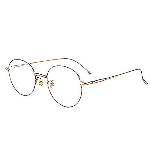 Reine Titan Brille Rahmen Anti-Blau Licht Strahlung Brille Computer Handy Augenschutz Flachen Spiegel,Roségold