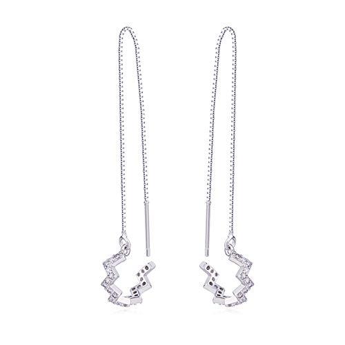 GUT® 1 Paar 925 Sterling Silber Neue Ankunft Welle Manschette Kette Ohrringe Wrap Quaste Ohrringe für Frauen Einfädler Ohrringe Perfekte Valentinstag Geschenke