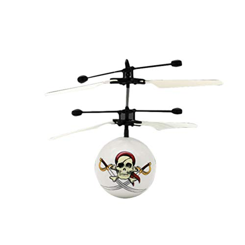 YeahiBaby Skull Ball Helikopter LED Licht Aircraft Spielzeug USB Ladekabel für Kinder